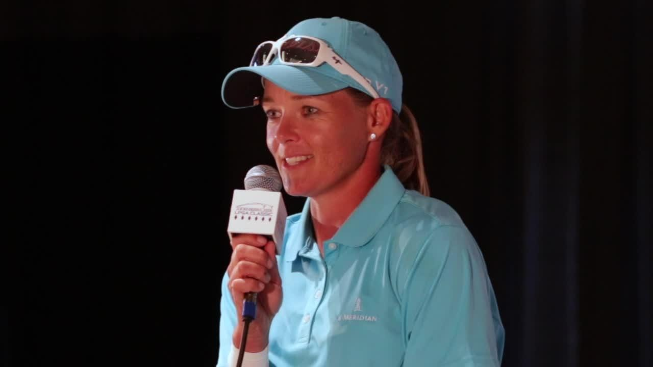 Press conference highlights following Katherine Kirk's win in the Thornberry Creek LPGA Classic in Hobart. (July 9, 2017)
