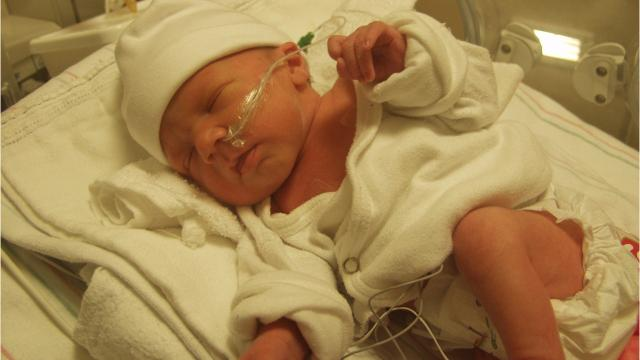 A Mukwonago couple holds onto faith regarding their daughter born at just under a pound. A GoFundMe account has been set up for the family.
