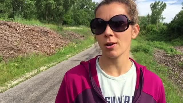 Grace Kassander on the Interurban trail