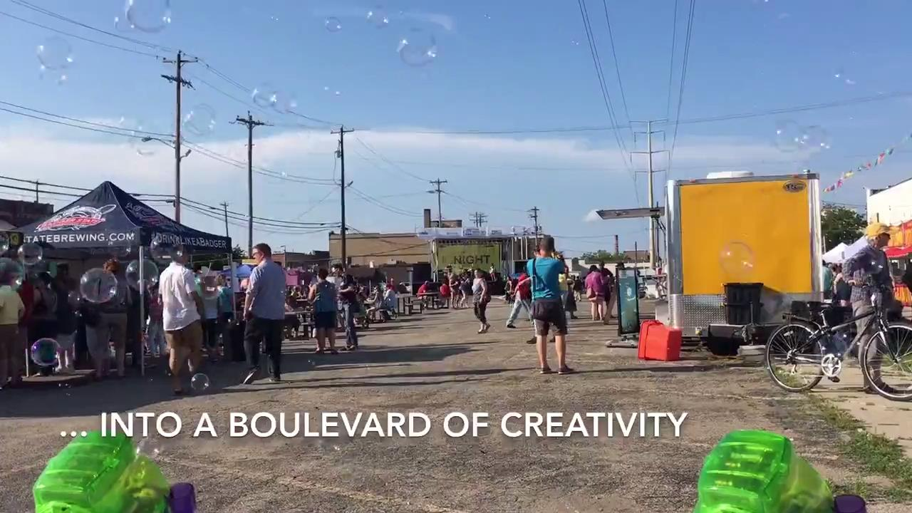 The first of three night markets this summer overcame a bout of bad weather to celebrate all things creative in Green Bay. July 16, 2017.