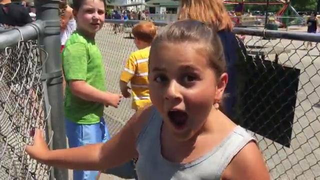 Fiona Glorioso, 8, of Milwaukee, talks the new Ferris wheel coming to Bay Beach Amusement Park. She also shares her reaction after riding the park's 1950s model wheel.