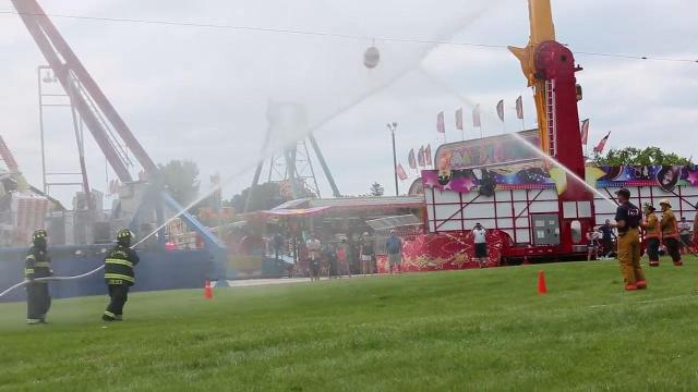 Fond du Lac County Fair fire fighter water fights