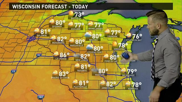 Wisconsin weather forecast for Thursday, July 27