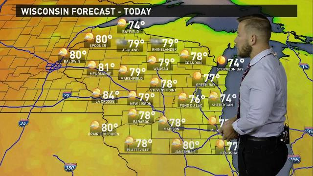 Wisconsin weather forecast for Friday, July 28