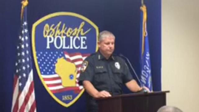 Oshkosh Police Chief Dean Smith holds a news conference following Monday's early morning fatal shooting involving police. (July 31, 2017)
