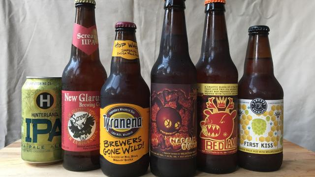 Pick 6 of India pale ales brewed by Wisconsin craft breweries.