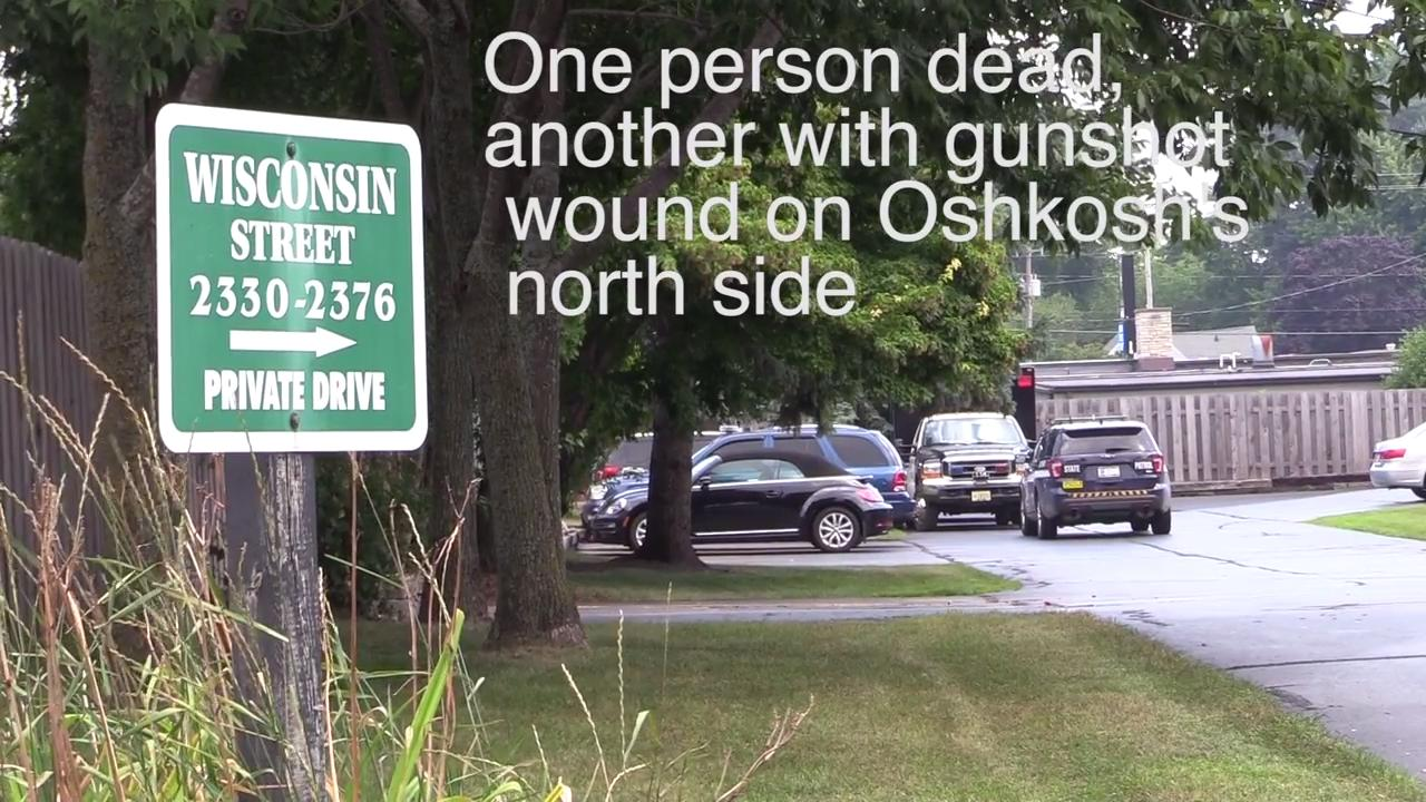 One person dead, another with gunshot wound on Oshkosh's north side.