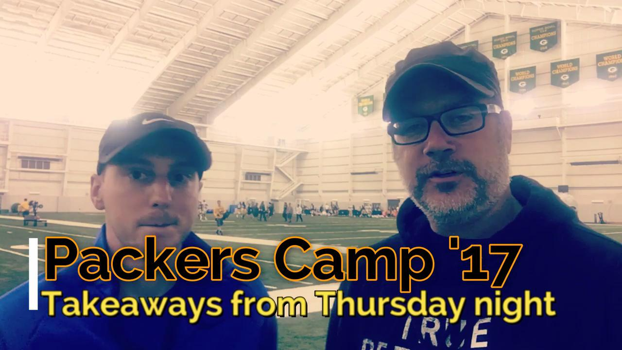 Takeaways from Packers' first night practice of camp