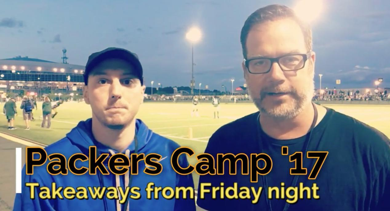 Takeaways from Friday night's training camp practice.