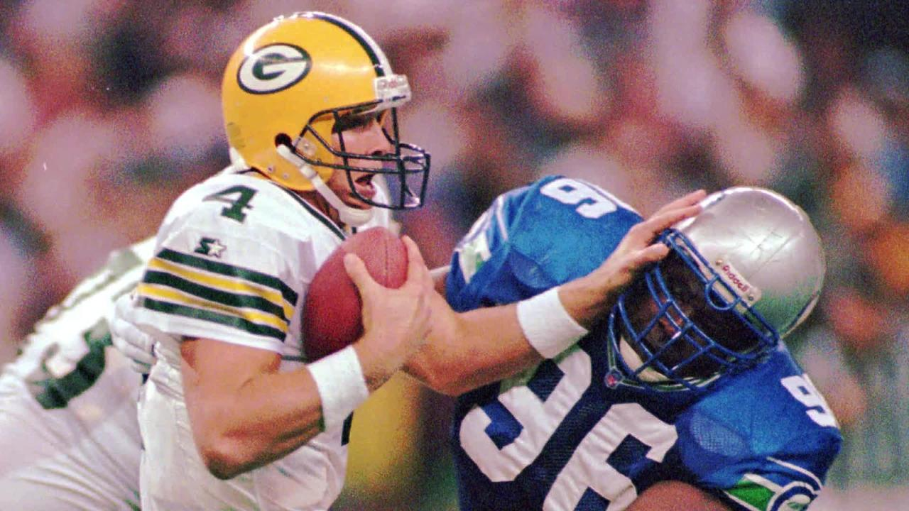 While in Green Bay, former Packers quarterback Brett Favre talks about his concerns of concussions in the NFL and his own future health.