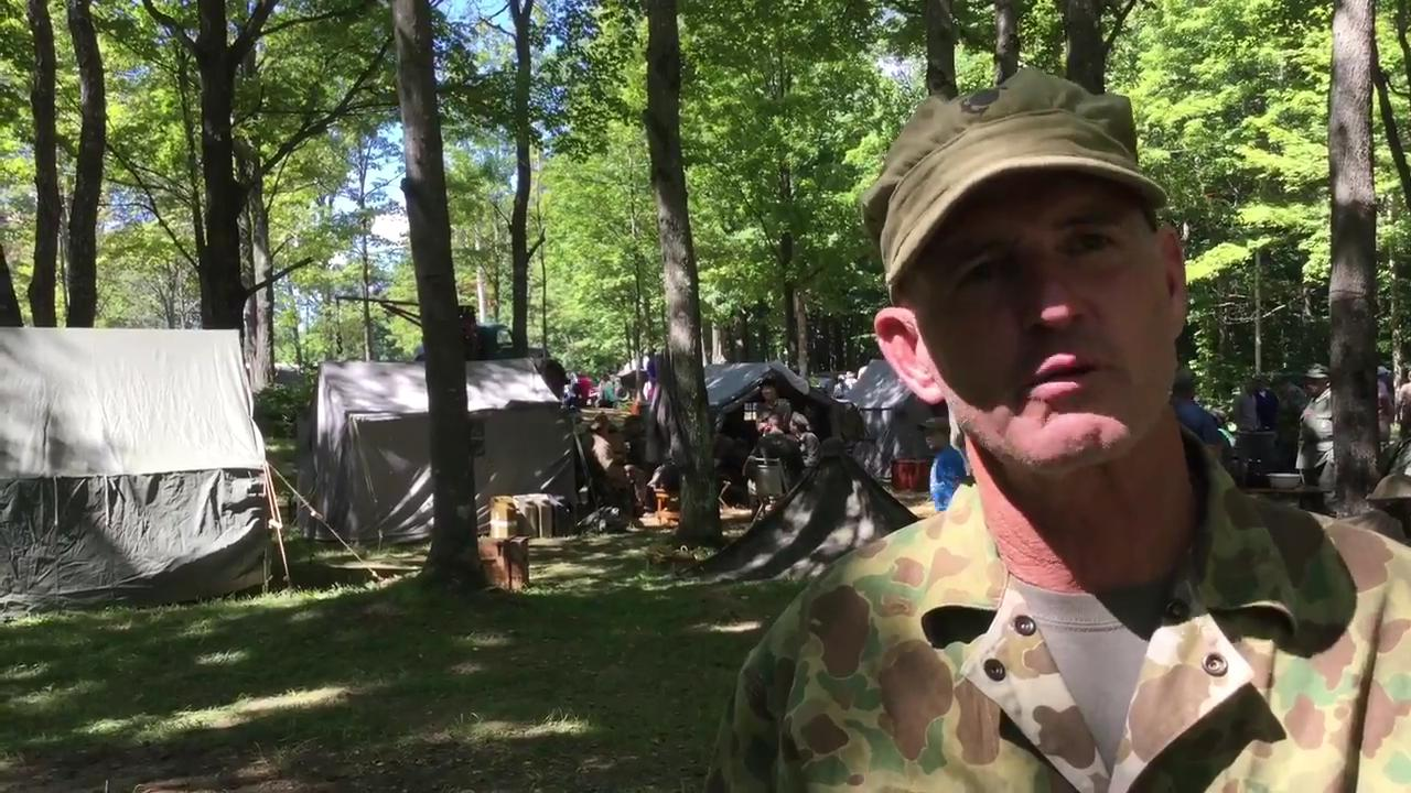 Re-enactors bring history to life at the first Central Wisconsin Military Show.