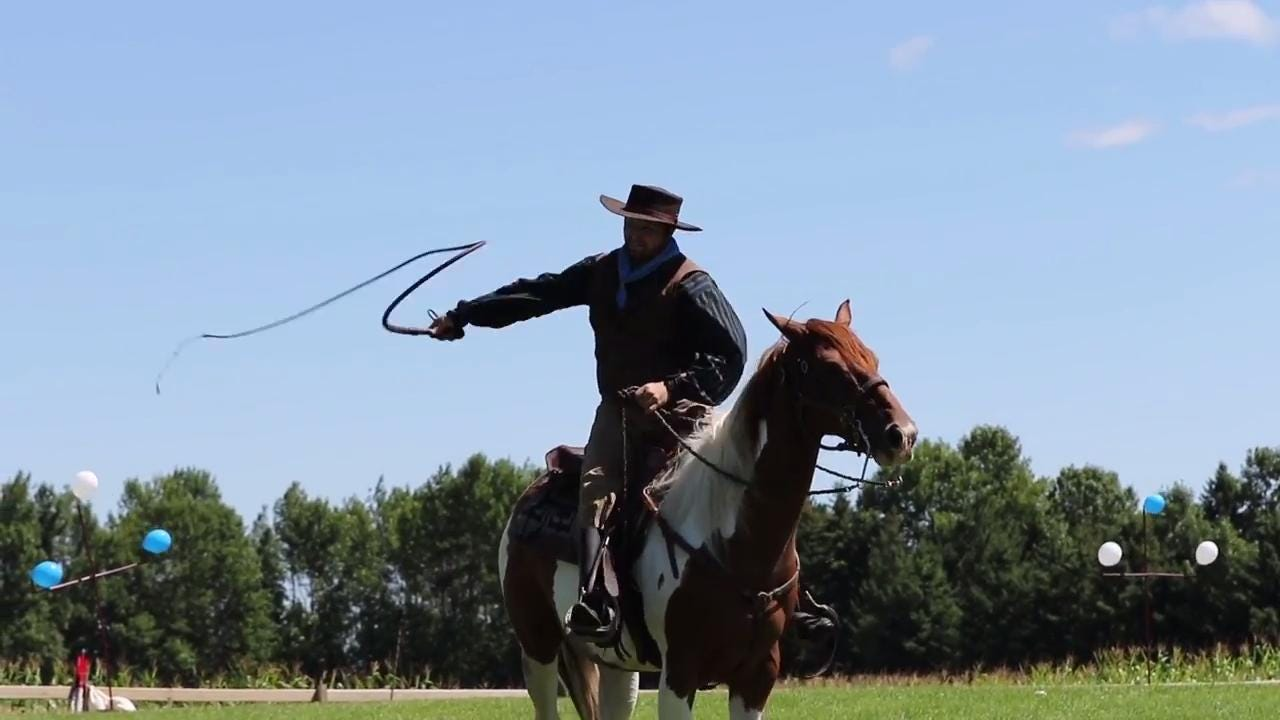 The Manitowoc County Historical Society brings back Buffalo Bill's Wild West Show to the Pinecrest Historical Village, wowing and amazing spectators in the same way the original show did in Manitowoc in 1900.