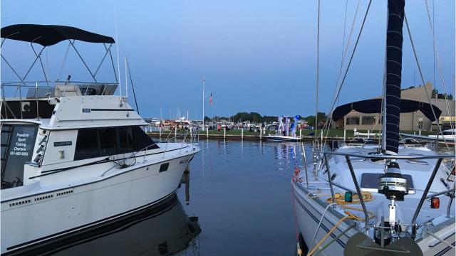 The Sturgeon Bay Yacht Club hosted a boat parade and fireworks Saturday, Aug. 12, 2017, during the annual Maritime Festival.