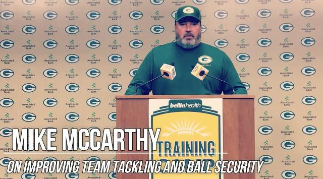 Packers to focus on tackling, ball security
