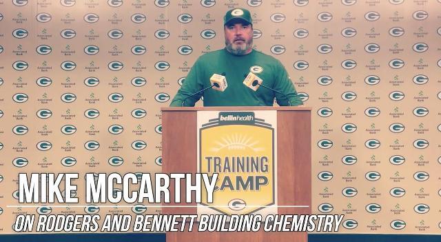 McCarthy sees Rodgers-Bennett chemistry