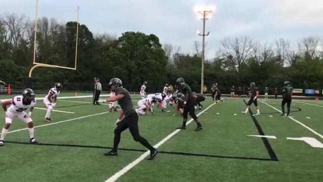 Highlights from Badger's 31-30 win over Greendale in the final seconds of the first game of the 2017 football season on Aug. 17, 2017.