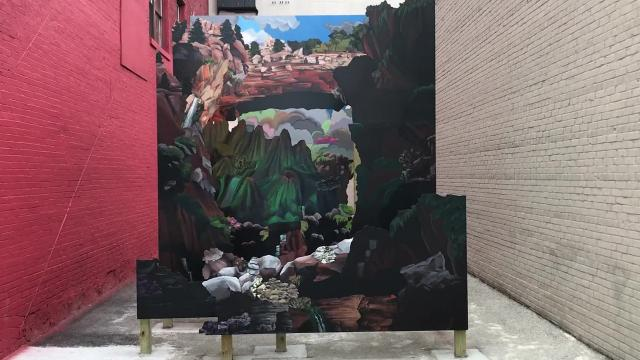 A new art installation was unveiled in an alleyway next to the Weill Center as part of the John Michael Kohler Art Center's Connecting Communities program.