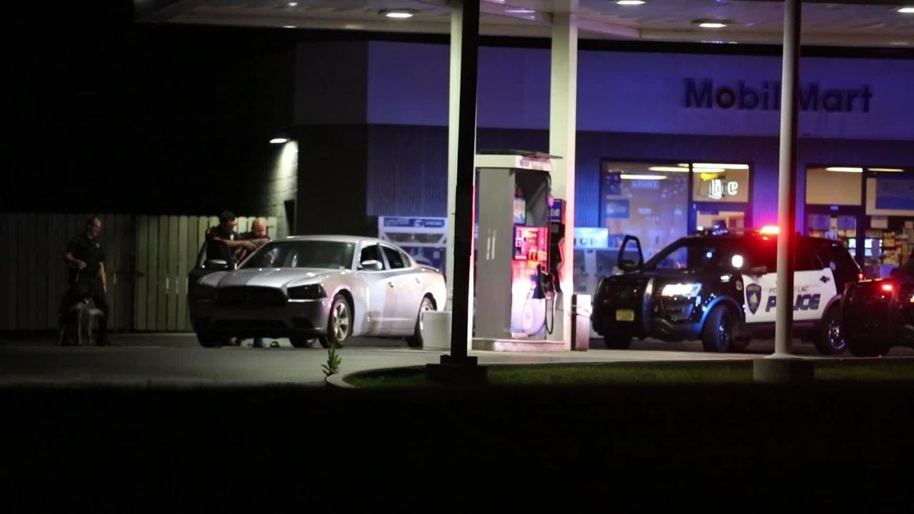 Police conducted a felony traffic stop on a car in the Mobil gas station lot on Fond du Lac Ave Sunday night around 9:20 p.m. It is unknown at this time why the car was stopped.