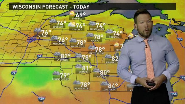 Wisconsin weather forecast for Monday, Aug. 21