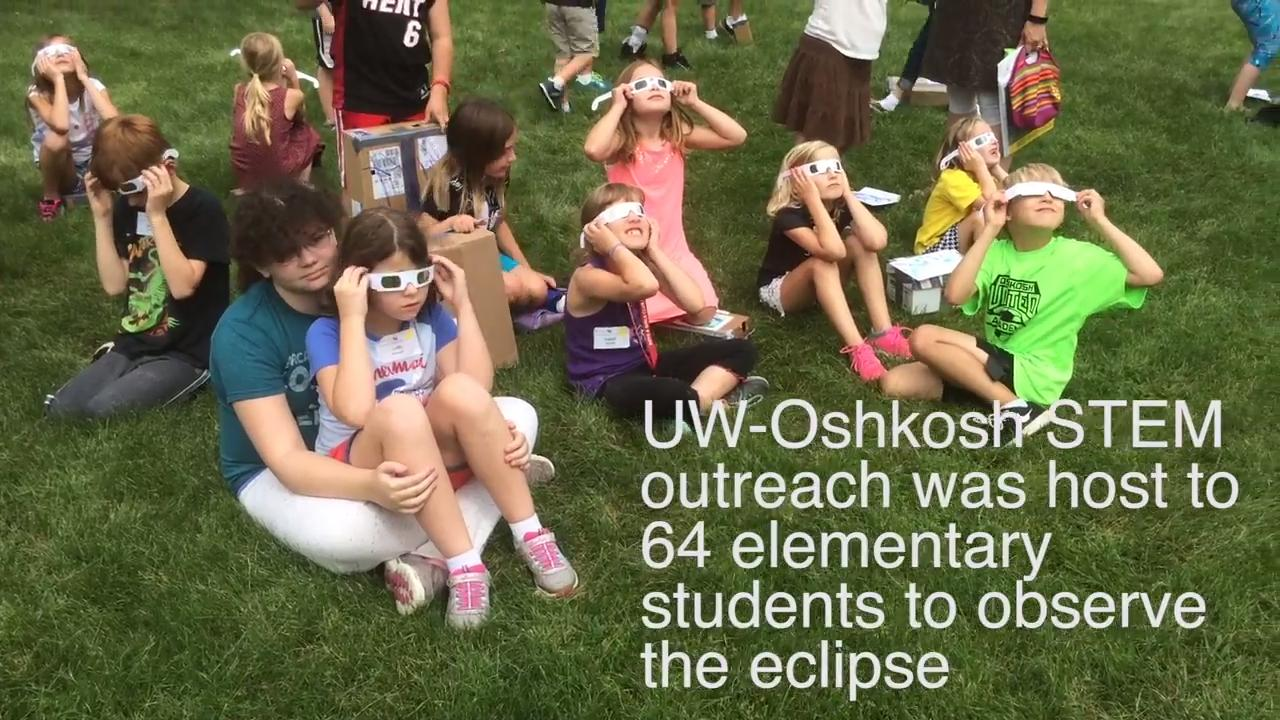 University of Wisconsin Oshkosh STEM Outreach hosted a solar eclipse-focused day camp Monday, Aug. 21, for elementary school aged children.