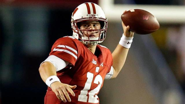 Alex Hornibrook leads the Badgers