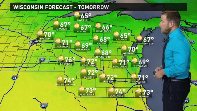 Wisconsin weather forecast for Tuesday, Aug. 22