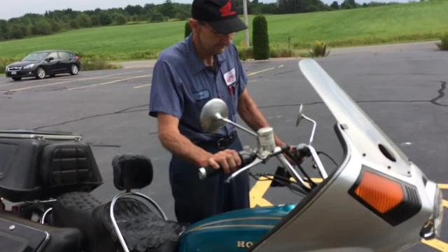 Al Zahrt, 61, the co-owner of Pro Motor Sports in the town of Maine, bought his 1975 Honda Gold Wing when he was 19 years old. He's ridden it in every one of the lower 48 states.