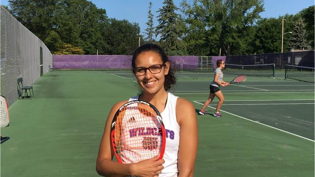 Green Bay West senior Maddy Steber plays tennis and competes in track and field and also is a singer, which she advanced to state in as a sophomore.