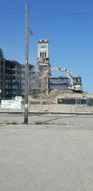 A symbol of Manitowoc crumbles to dust.