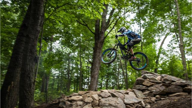 The new Sylvan Hill Mountain Bike Park offers runs for bikers of all skill levels.