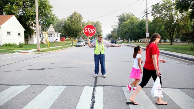 School and law enforcement officials remind drivers to be cautious in school zones as the new school year begins. (Jen Zettel/USA TODAY NETWORK-Wisconsin)