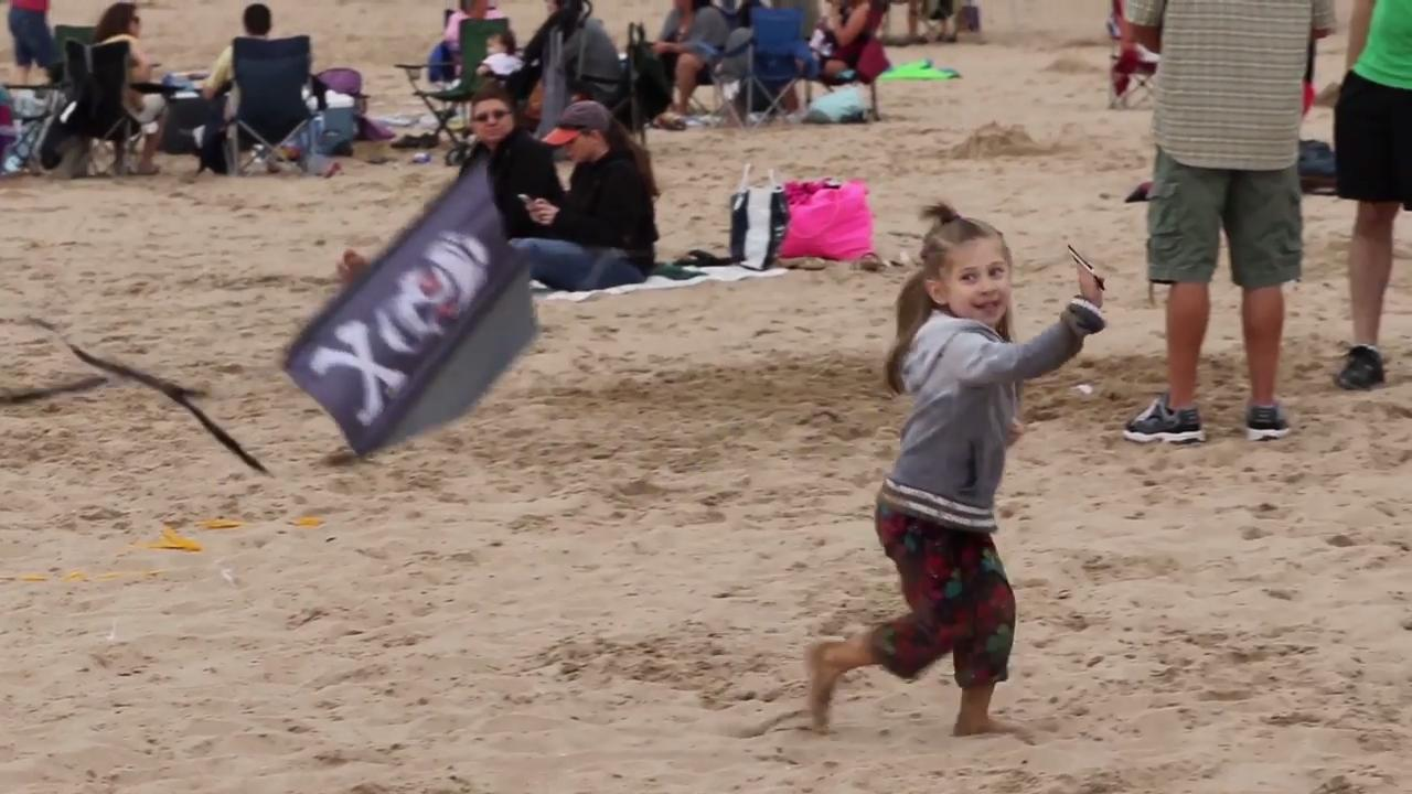 The 12th annual Kites Over Lake Michigan kite festival in Two Rivers drew large crowds of spectators to see the giant kite displays, aerial ballets and stunt kite shows while enjoying the beautiful scenery of Lake Michigan. (Sept. 3, 2017)