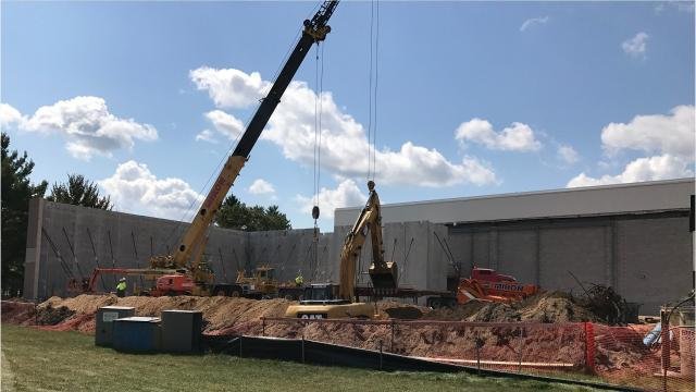 Lincoln High School is undergoing several renovations including expanded girls' locker rooms, a new pool and an auxiliary gym.