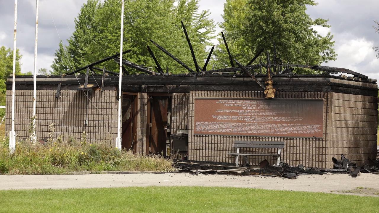 A fire that is suspicious was started sometime early Friday September 1.  The building and the Oshkosh Youth Soccer Clubs equipment was destroyed by the fire.  Everything was lost in the blaze.