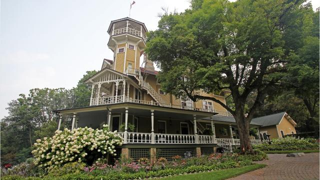 The 19th-century Queen Anne Victorian is only accessible by boat for tours.