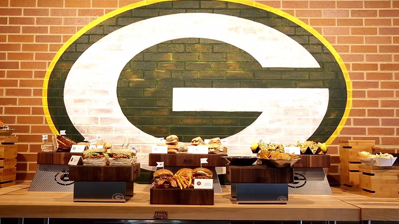 Delaware North Sportservice and the Green Bay Packers unveiled new concession items for the 2017 season at Lambeau Field on Sept. 7, 2017.