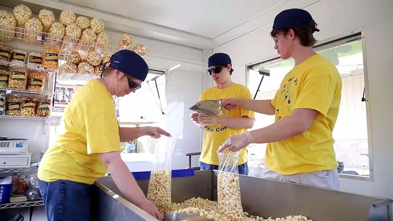 Amy Zimmerman started Poppin Z's Gourmet Popcorn, an online popcorn-making business based in Green Bay, to give her son with disabilities an opportunity to have meaningful employment.