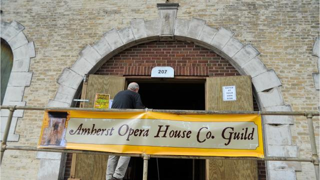For a few hours Saturday, the public got a chance to take a step back in time and look inside the historic Amherst Opera House. A newly formed nonprofit group, Amherst Opera House Company Guild, bought the building and plans to restore it and make it available to the community