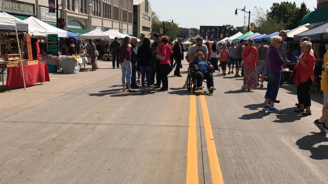 Hundreds of people flocked to Downtown Wisconsin Rapids Sunday to enjoy the annual Downtown Grand Affair. This year featured an open house at the Wisconsin Rapids Police Department with games, tours and a dunk tank.