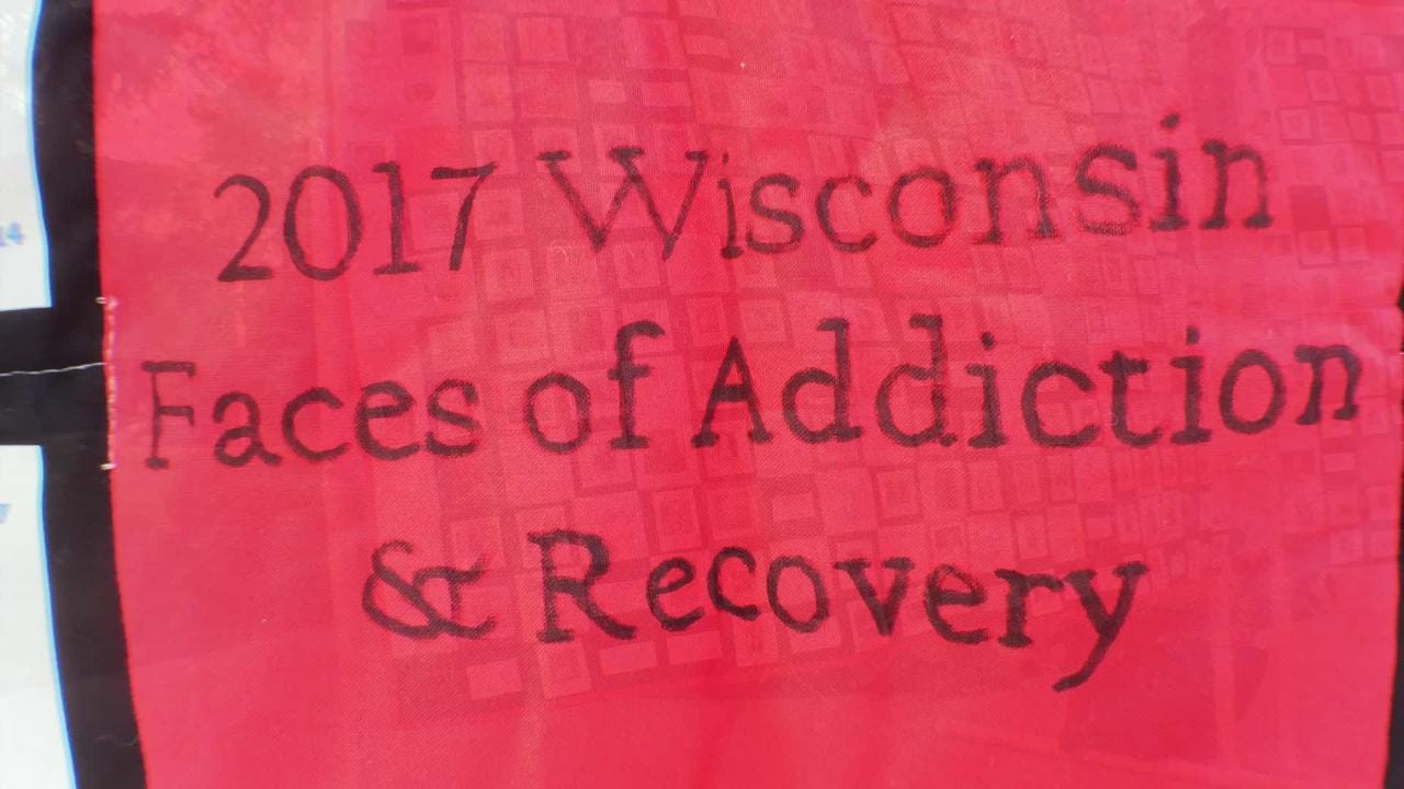 A group gathered at City Park in Appleton for the third annual Fox Cities Lights of Hope event about addiction and recovery.