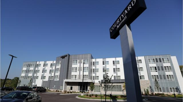 The RiverHeath development in Appleton opened its newest building, Courtyard by Marriott, Sept. 12, 2017. (Maureen Wallenfang/USA TODAY NETWORK-Wisconsin)