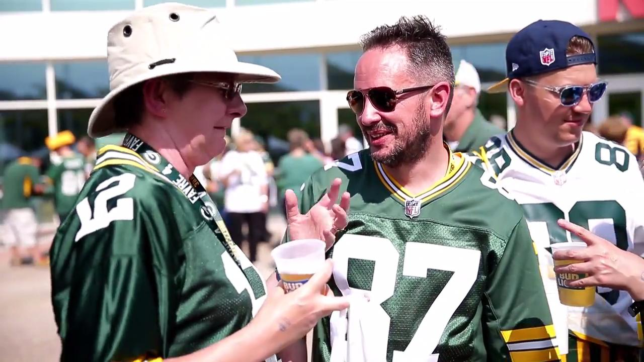 About 30 fans from the UK and Irish Packers attended the first regular game of the season on Sept. 10, 2017 at Lambeau Field.