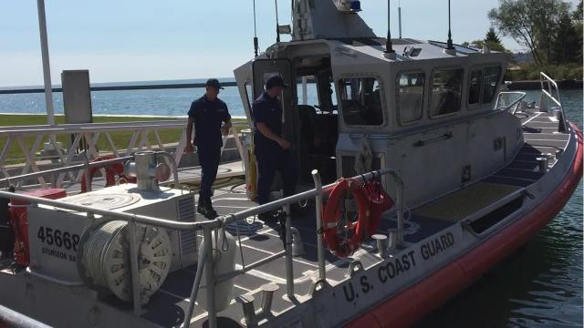 The local U.S. Coast Guard station deployed 16 members and two air boats to Texas for water rescues in the aftermath of Hurricane Harvey