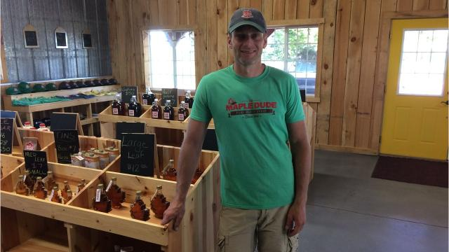 Tim Sternitzky creates a buzz on social media to sell his Maple Dude products, which include everything from syrup to bison.