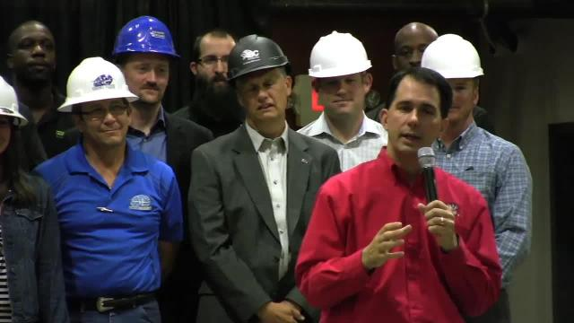 Gov. Scott Walker signs Foxconn bill