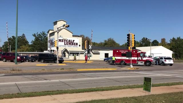 Two women were transported to Riverview Medical Center following a two-vehicle crash Tuesday at the intersection of West Grand Avenue and West Riverview Expressway in Wisconsin Rapids