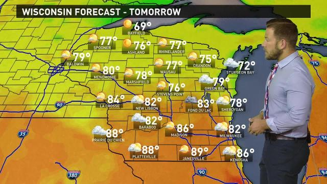 Wisconsin weather forecast for Wednesday, Sept. 20