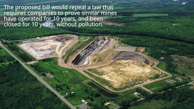 A new bill in Wisconsin could allow for a gold mine to open near the Eau Claire Dells.