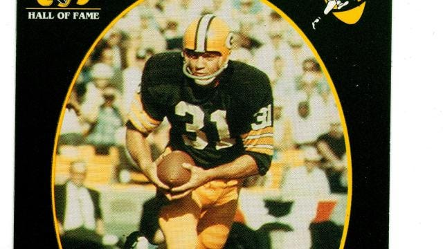 A look at the running backs who have been inducted into the Green Bay Packers Hall of Fame.