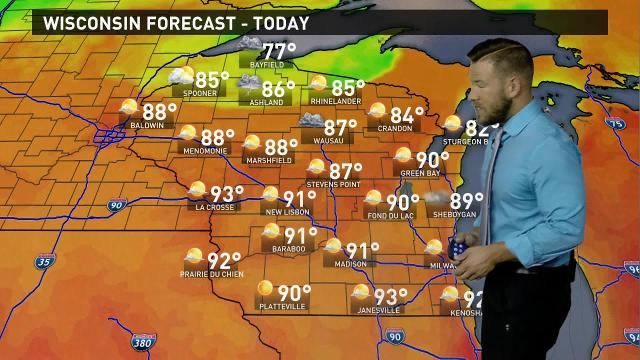 Wisconsin weather forecast for Friday, Sept. 22